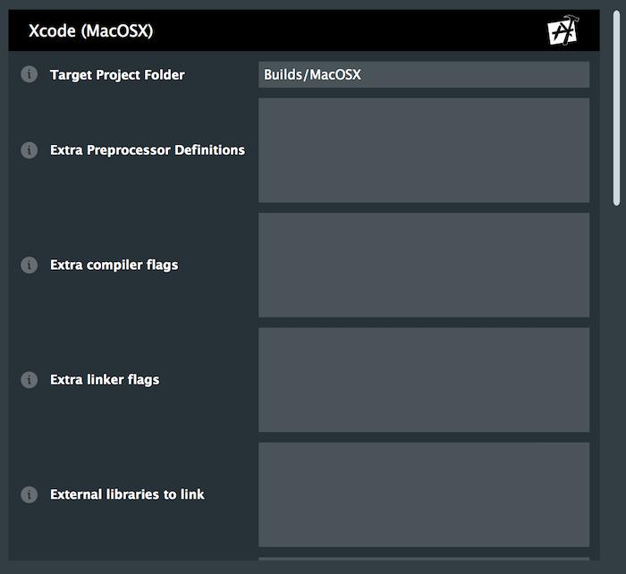 Exporter settings window