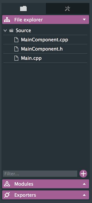 File explorer panel