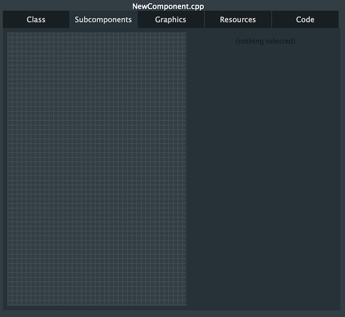 GUI editor subcomponents tab