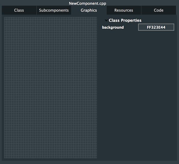 GUI editor graphics tab