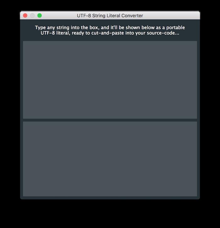 UTF-8 String Literal Helper