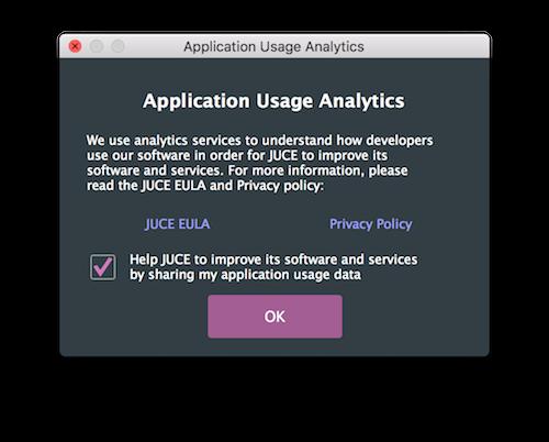 Application usage analytics notice