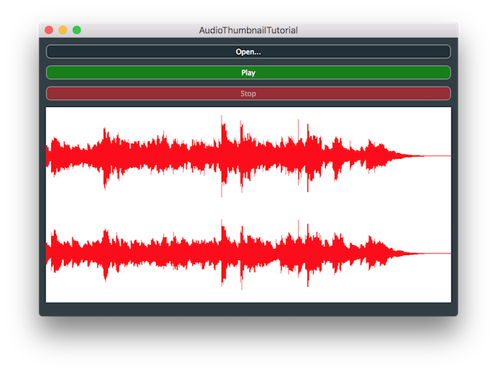 JUCE: Tutorial: Draw audio waveforms