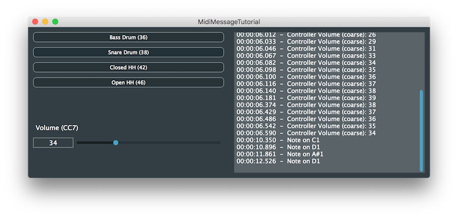 JUCE: Tutorial: Create MIDI data