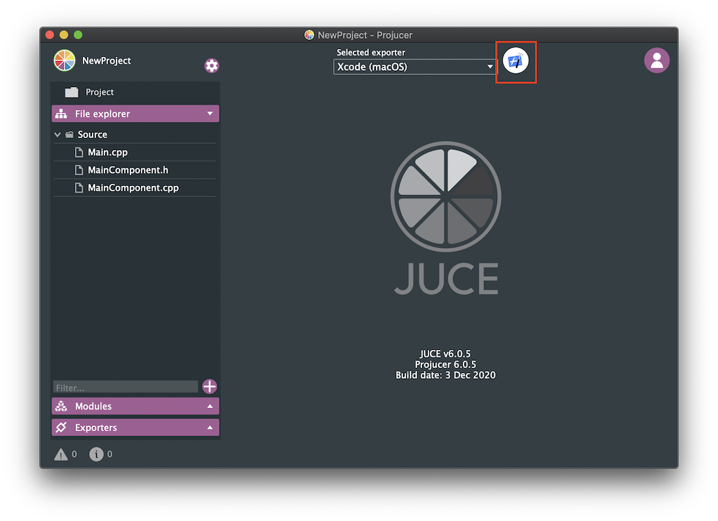 JUCE: Tutorial: Projucer Part 1: Getting started with the
