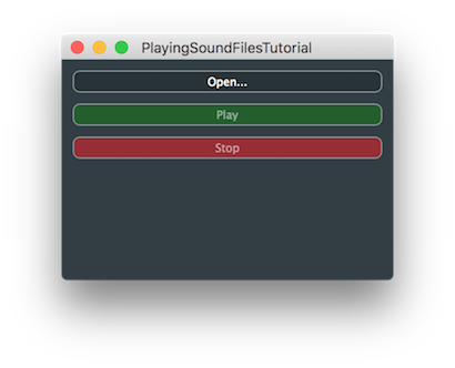 JUCE: Tutorial: Build an audio player